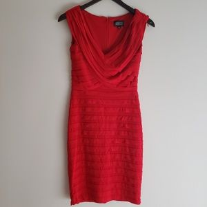 Adrianna Papell Red Dress. NWT